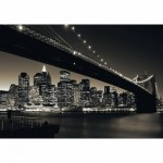 Puzzle  Ravensburger-15835 New York: Manhattan mit Brooklyn Bridge