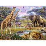 Puzzle  Ravensburger-16333 Buntes Afrika