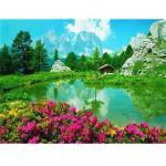 Puzzle  Ravensburger-17024 Die Dolomiten