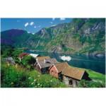 Puzzle  Ravensburger-17063 Sognefjord Norwegen