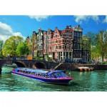 Puzzle  Ravensburger-19138 Grachtenfahrt in Amsterdam