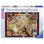 Puzzle  Ravensburger-19406 Vintage Games