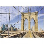 Puzzle  Ravensburger-19424 Auf der Brooklyn Bridge
