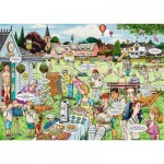 Puzzle  Ravensburger-19469 Best of British - The Cricket Match