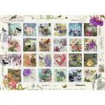 Puzzle  Ravensburger-19607 Briefmarkensammlung