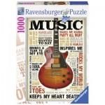 Puzzle  Ravensburger-19615 Leidenschaft zur Musik