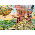 Puzzle  Ravensburger-19652 Colin Thompson - Flug nach Hause
