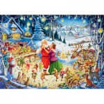 Puzzle  Ravensburger-19660 Santa's Weihnachts-Party
