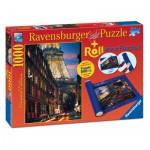 Ravensburger-19912 Paris, 1000 Teile Puzzle + Puzzlematte