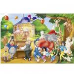 Puzzle  Schmidt-Spiele-56023 Benjamin Blümchen: Zoofest