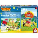 Schmidt-Spiele-56076 2 Puzzles - Benjamin Blümchen: Spiel und Spaß mit Benjamin