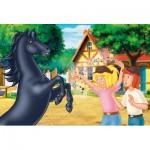 Puzzle  Schmidt-Spiele-56078 Bibi und Tina: Der wilde Hengst