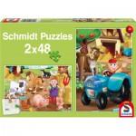 Puzzle  Schmidt-Spiele-56125 Bauernhoftiere