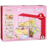 Schmidt-Spiele-56503 4 Puzzles - Lillebi