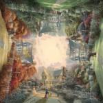 Puzzle  Schmidt-Spiele-59294 Thomas Kinkade: Viktorianischer Garten