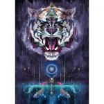 Puzzle  Schmidt-Spiele-59323 Chris Saunders, Fauchender Tiger