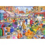 Puzzle  The-House-of-Puzzles-2452 XXL Teile - Market Day