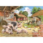 Puzzle  The-House-of-Puzzles-3534 XXL Teile - Poppy's Piglets