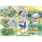 Puzzle   XXL Teile - Feathered Friends