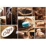 Puzzle  Trefl-10359 Kaffee