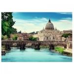 Puzzle  Trefl-10449 Schloss Sant'Angelo, Rom