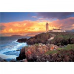 Puzzle  Trefl-26053 Leuchtturm in Irland