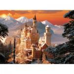 Puzzle  Trefl-33025 Schloss Neuschwanstein im Winter