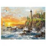 Puzzle  Trefl-33044 Dominic Davison: Sonnenuntergang an der Küste
