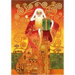Wentworth-691203-500 Holzpuzzle - Carol Lawson: Klimt Santa