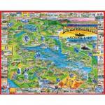 Puzzle  White-Mountain-039 Lakes Region, New Hampshire , USA
