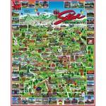 Puzzle  White-Mountain-469 Stowe & Waterbury, Vermont