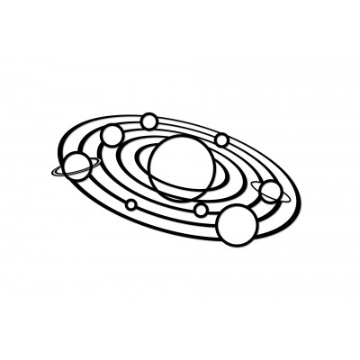 Eco-Wood-Art-92 Wooden Puzzle - Solar System