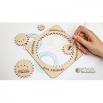 Holzpuzzle - Spirograph