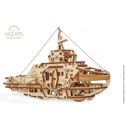 Ugears-12098 3D Holzpuzzle - Tugboat