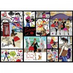 Puzzle  Art-Puzzle-4636 Fashion Collage