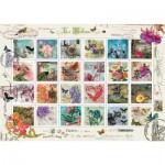 Puzzle  Art-Puzzle-4639 Stamp Collage