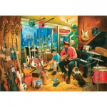 Puzzle  Art-Puzzle-4643 Cross Roads Music Shops