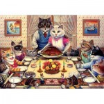 Puzzle  Art-Puzzle-5025 Cat Family