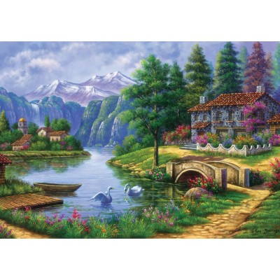 Puzzle Art-Puzzle-5371 Lake Village