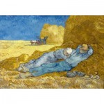 Puzzle  Art-by-Bluebird-60115 Vincent Van Gogh - The siesta (after Millet), 1890