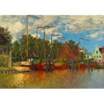 Puzzle  Art-by-Bluebird-Puzzle-60031 Claude Monet - Boats at Zaandam, 1871