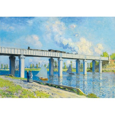 Puzzle Art-by-Bluebird-Puzzle-60038 Claude Monet -Railway Bridge at Argenteuil, 1873