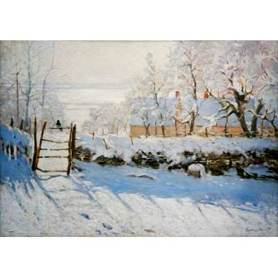 Puzzle Art-by-Bluebird-Puzzle-60041 Claude Monet - The Magpie, 1869