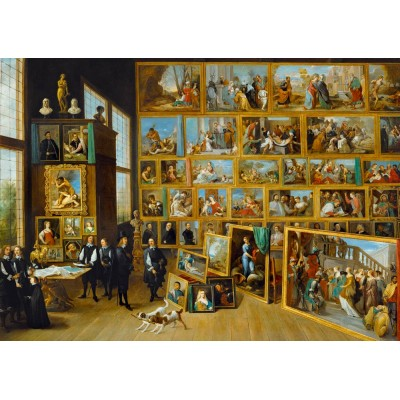Puzzle Art-by-Bluebird-Puzzle-60054 David Teniers the Younger - The Art Collection of Archduke Leopold Wilhelm in Brussels, 1652