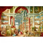 Puzzle  Art-by-Bluebird-Puzzle-60075 Panini - Picture Gallery with Views of Modern Rome, 1757