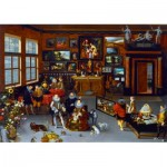 Puzzle  Art-by-Bluebird-Puzzle-60077 Hieronymus Francken Iicirca - The Archdukes Albert and Isabella Visiting a Collector's Cabinet, 1623
