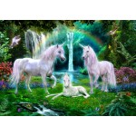 Puzzle  Bluebird-Puzzle-70193 Rainbow Unicorn Family