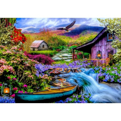 Puzzle Bluebird-Puzzle-70210 Heaven on Earth in the Mountains
