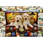 Puzzle  Bluebird-Puzzle-70237-P Two Travel Puppies