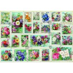 Puzzle   Stamp Flower Collection